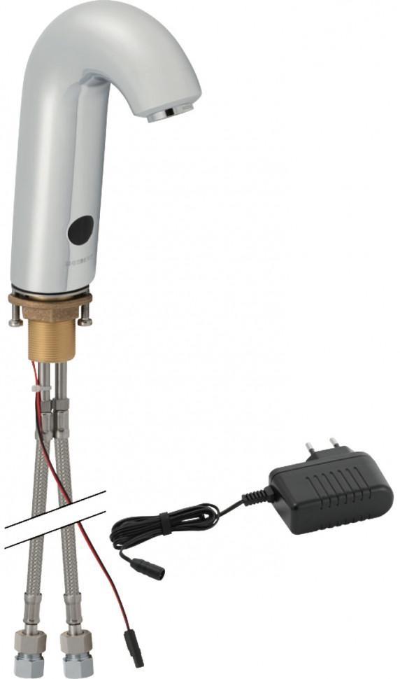 Сенсорный смеситель для раковины Geberit тип 60, питание от сети, с миксером 115.724.21.1 фото