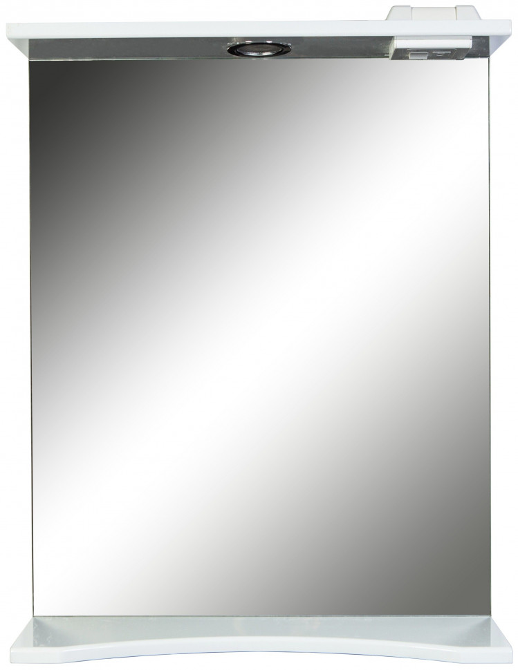 Зеркало 55х72 см белый глянец Orange Стандарт St-55ZE