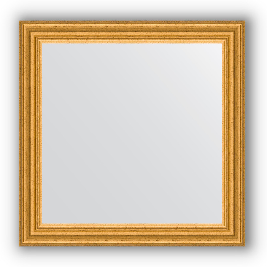 Зеркало 66х66 см состаренное золото Evoform Definite BY 0786 зеркало 66х66 см орех evoform definite by 0784