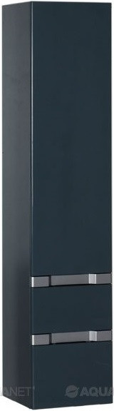 Пенал подвесной сине-серый Aquanet Виго 00183360