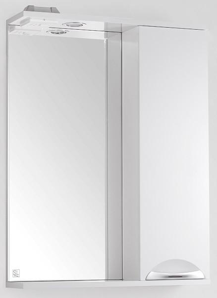 купить Зеркальный шкаф 60х83 см белый глянец Style Line Жасмин LC-00000040 по цене 4870 рублей