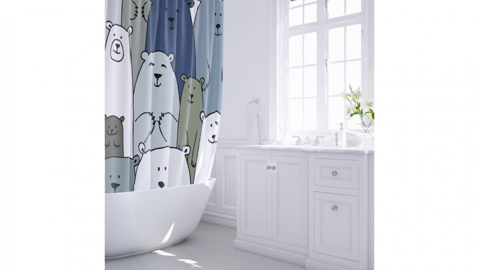Штора для ванной комнаты Fixsen Bear FX-2503 стакан для ванной комнаты verran luma 251 25 серебристый