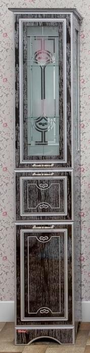 Пенал напольный венге серебряная патина L Sanflor Адель H0000000649