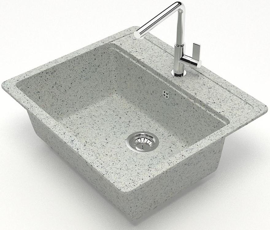 Фото - Кухонная мойка Zett Lab Модель 9 светло-серый матовый T009Q010 кухонная мойка zett lab модель 9 темно серый матовый t009q008