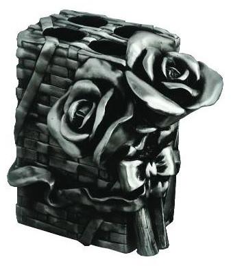 Держатель зубных щеток настольный серебро Art&Max Rose AM-0091B-T недорго, оригинальная цена