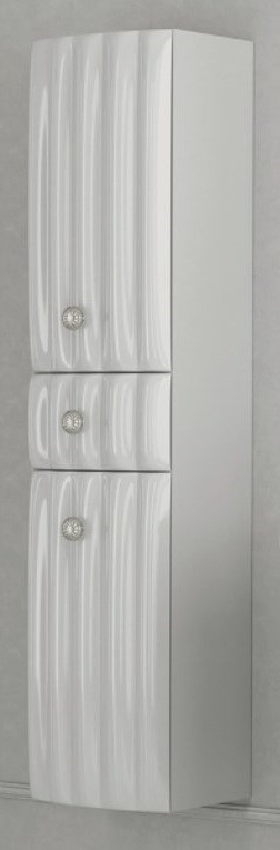 Пенал подвесной белый глянец L Aima Design Pearl У51080