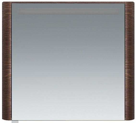 Зеркальный шкаф 80х70 см табачный дуб R Am.Pm Sensation M30MCR0801TF