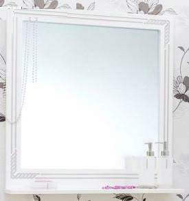 Зеркало 72,1х75,1 см белый серебряная патина Sanflor Элен H0000000179