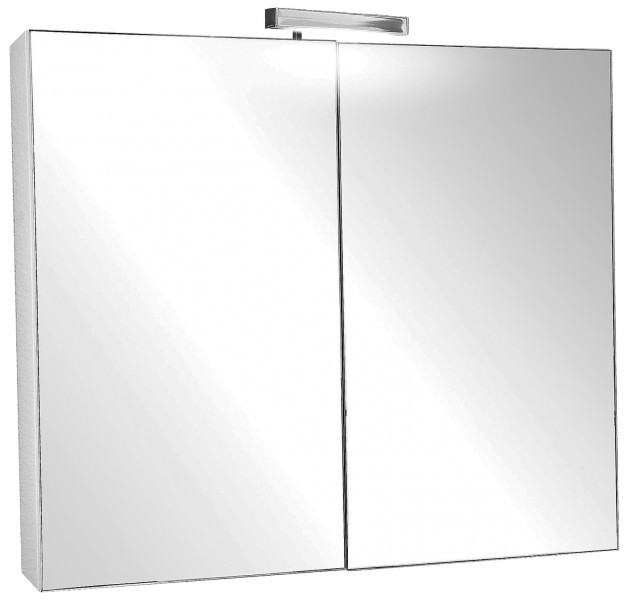 Зеркальный шкаф с подсветкой 80х65 см Jacob Delafon Presquile EB928-J5