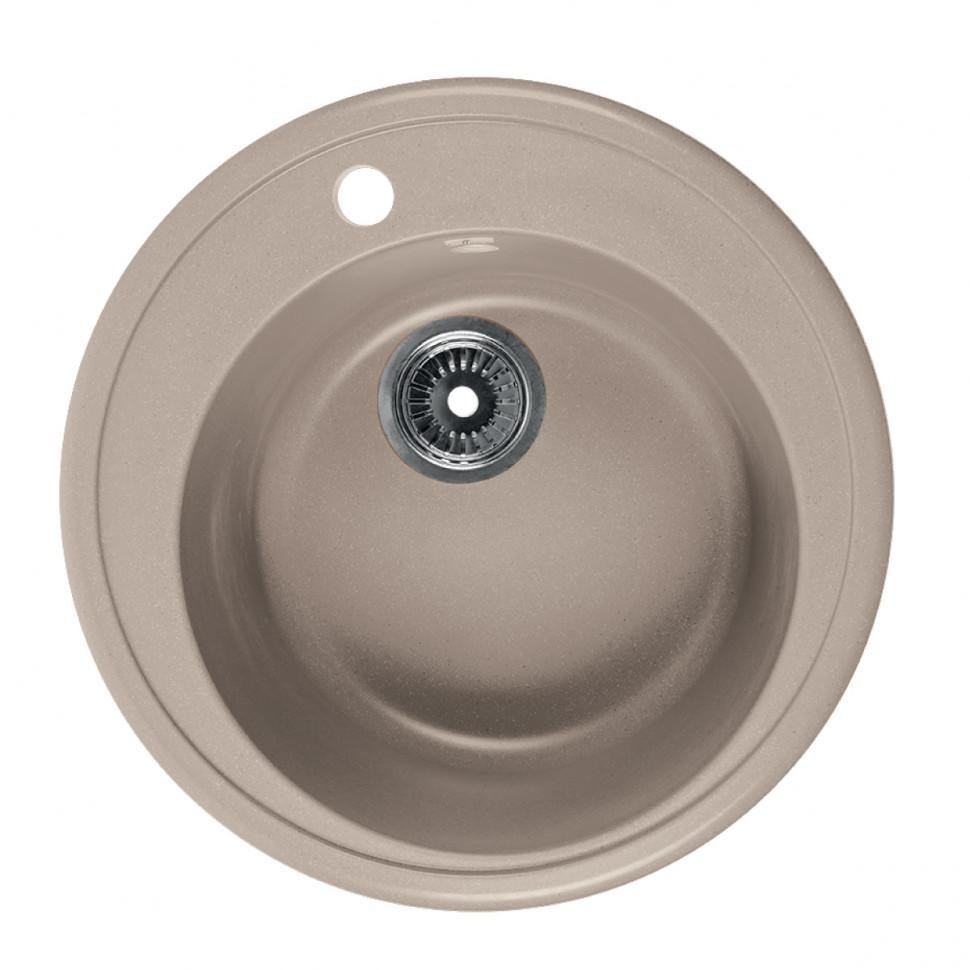 Кухонная мойка бежевый Rossinka RS51R-Beige-Granite кухонная мойка бежевый rossinka rs51r beige granite