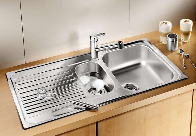Кухонная мойка Blanco Tipo 6S Basic Матовая сталь 512303 кухонная мойка blanco tipo 6 basic нерж сталь матовая