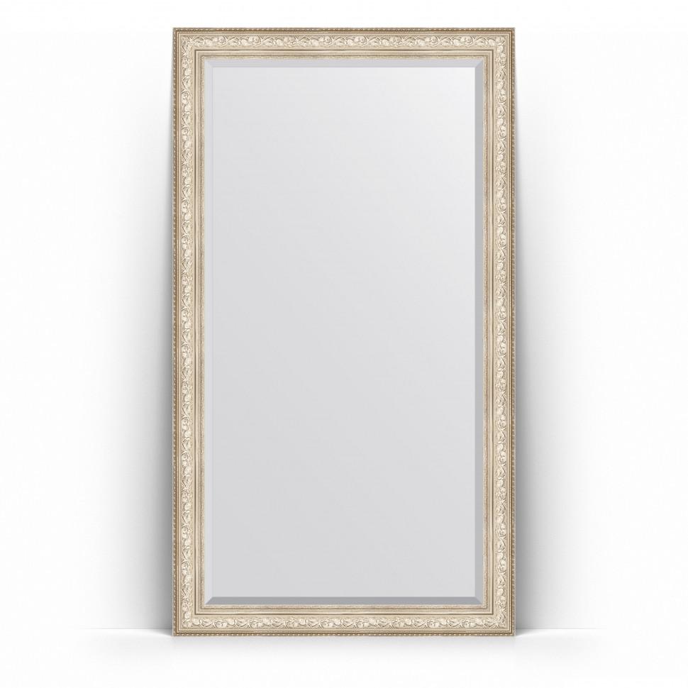 Фото - Зеркало напольное 115х205 см виньетка серебро Evoform Exclusive Floor BY 6176 зеркало напольное с фацетом evoform exclusive floor 115x205 см в багетной раме виньетка серебро 109 мм by 6176