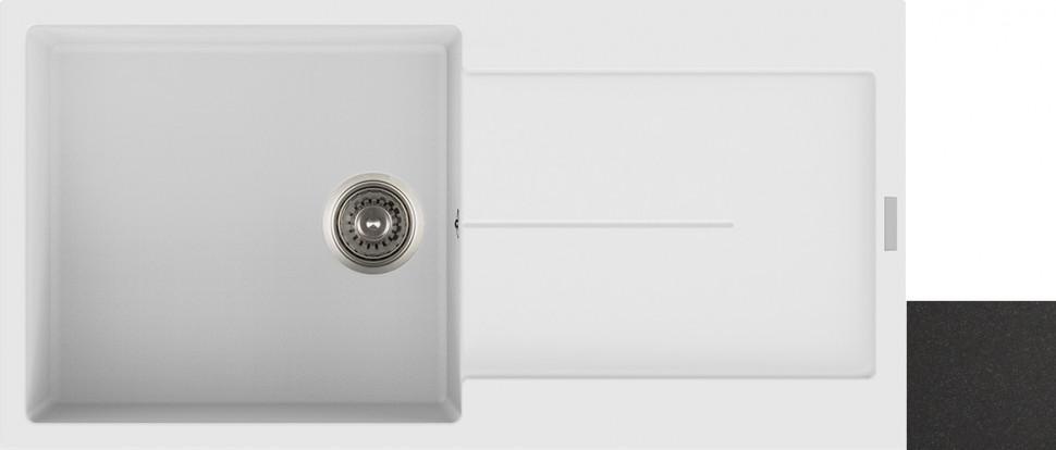 Кухонная мойка оникс Longran Enigma ENG1000.500 - 10 мойка longran ultra uls615 500 15 10 оникс
