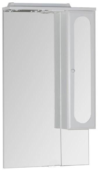 Зеркальный шкаф 60х110 см с подсветкой белый Aquanet Марсель 00100296 шкаф пенал aquanet марсель а 102 101160