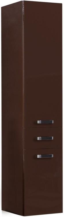 Пенал подвесной темно-коричневый с бельевой корзиной Акватон Америна 1A135203AM430 шкаф колонна подвесная америна тёмно коричневая aquaton 1a135203am430