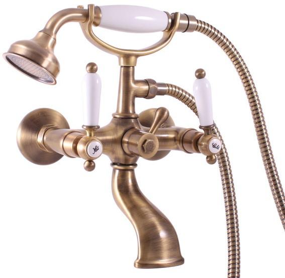 Смеситель для ванны Rav Slezak Morava Retro MK559.5/2SM зеркало с фацетом в багетной раме поворотное evoform exclusive 80x170 см виньетка серебро 109 мм by 3608