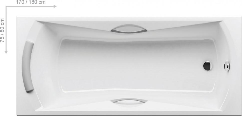 Акриловая ванна Sonata 180x80 Ravak CW01000000 акриловая ванна campanula ii 180x80 ravak cb21000000