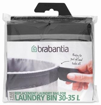 Мешок для бака для белья 35л Brabantia 102325 мешок для прищепок 18х28 см синий 105784 brabantia