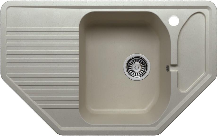 Кухонная мойка Polygran серый F-10 №14 кухонная мойка polygran хлопок f 10 331