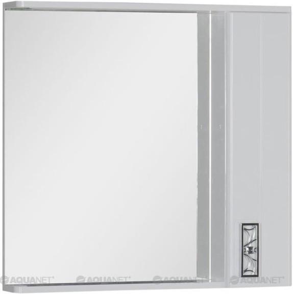 Зеркальный шкаф с подсветкой 88,6х87 см белый Aquanet Паллада 00175315 зеркальный шкаф vigo kolombo 80 с подсветкой серый