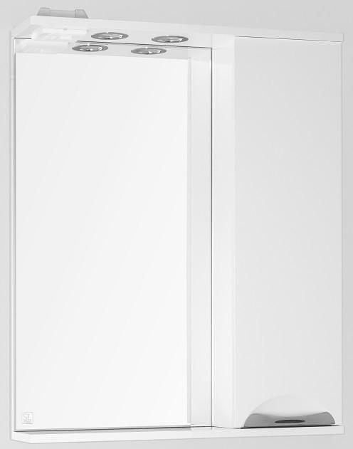 купить Зеркальный шкаф 65х83 см белый глянец Style Line Жасмин LC-00000041 по цене 5171 рублей