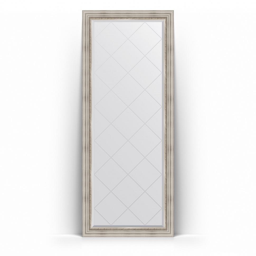 Фото - Зеркало напольное 81х201 см римское серебро Evoform Exclusive-G Floor BY 6318 зеркало напольное 81х201 см чеканка золотая evoform definite floor by 6008