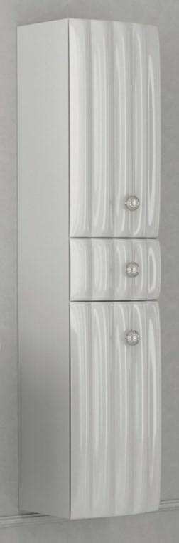Пенал подвесной белый глянец R Aima Design Pearl У51081
