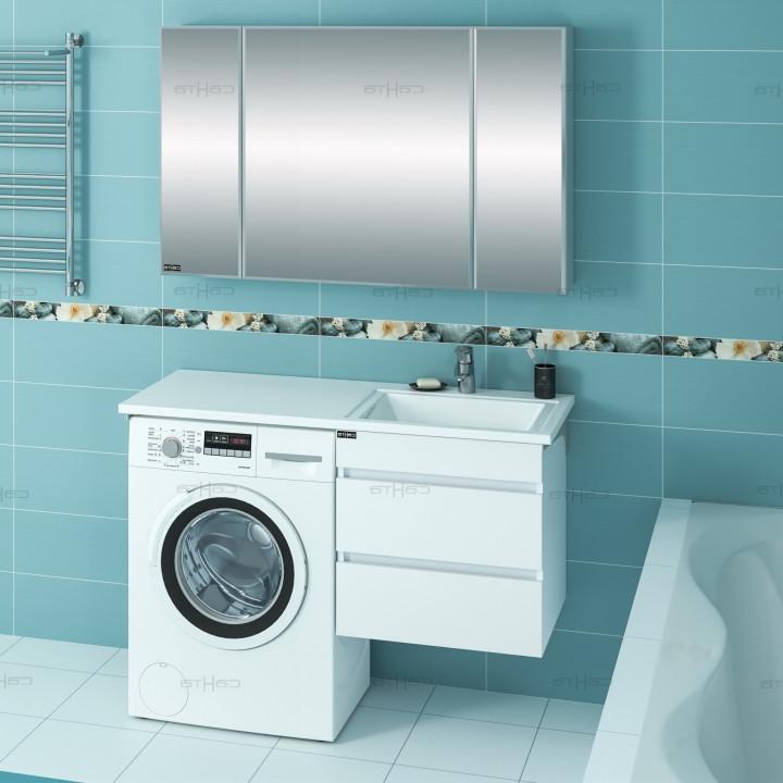Раковина над стиральной машиной 120,2х48,2 см без кронштейнов R Санта Лидер 900105