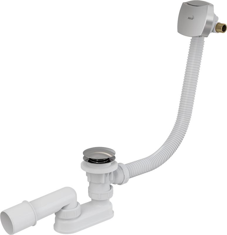 Слив-перелив для ванны ClickClack с напуском воды через перелив AlcaPlast A508KM