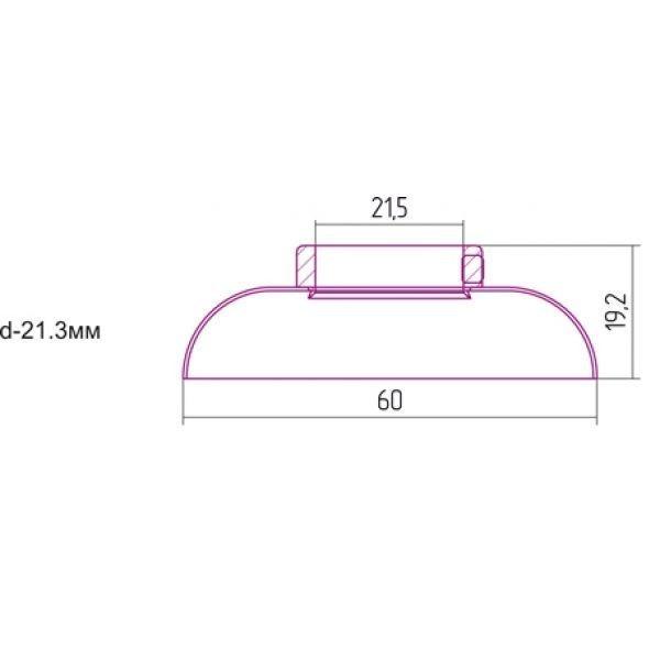 Отражатель декоративный d - 21,3 мм хамелеон Сунержа 04-1028-0001