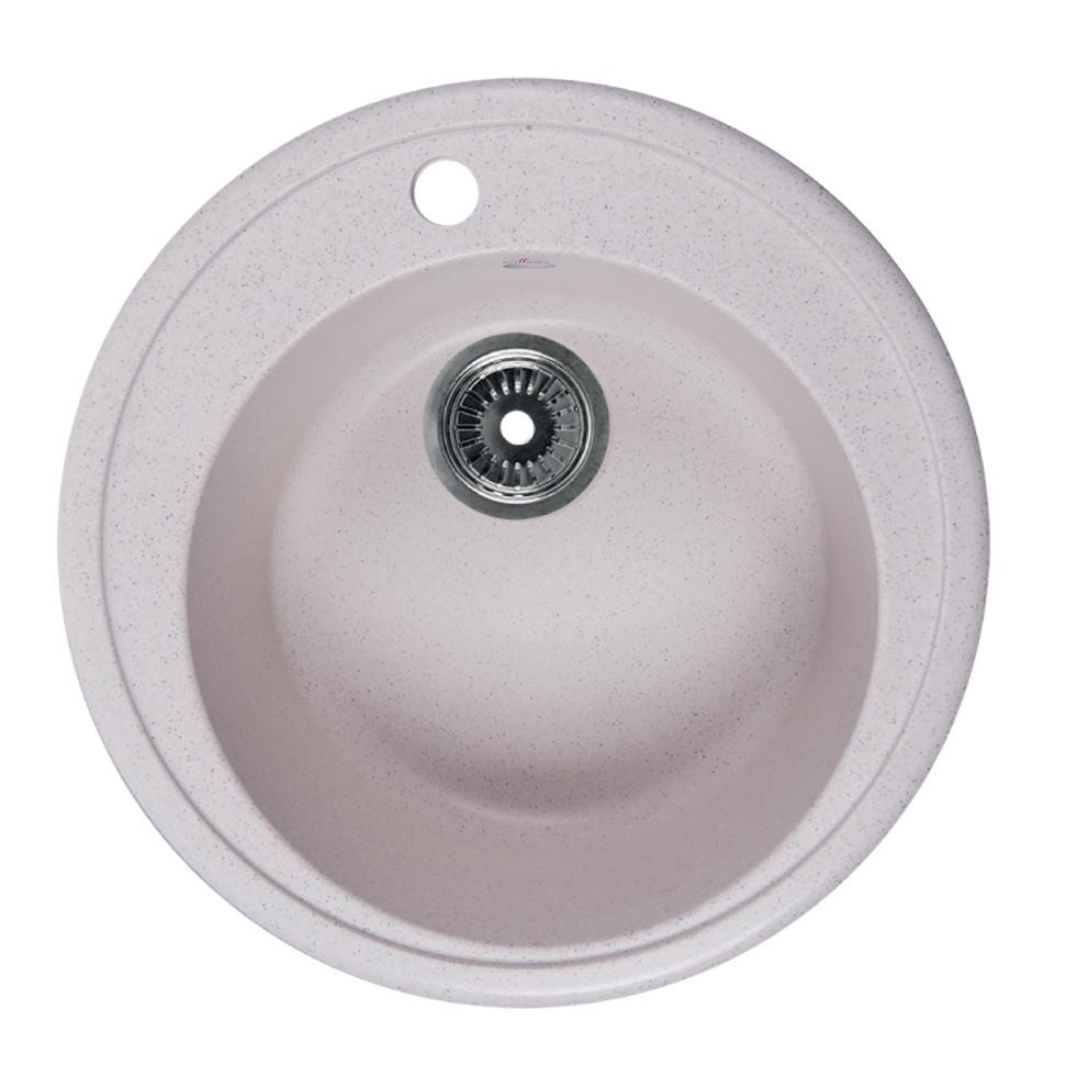 Кухонная мойка белый Rossinka RS51R-White кухонная мойка бежевый rossinka rs51r beige granite