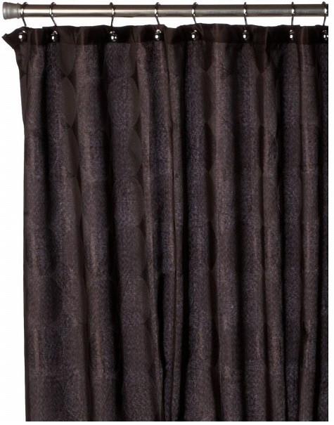 Штора для ванной комнаты Carnation Home Fashions Jacquard Chocolate Circle FSCJAC/13