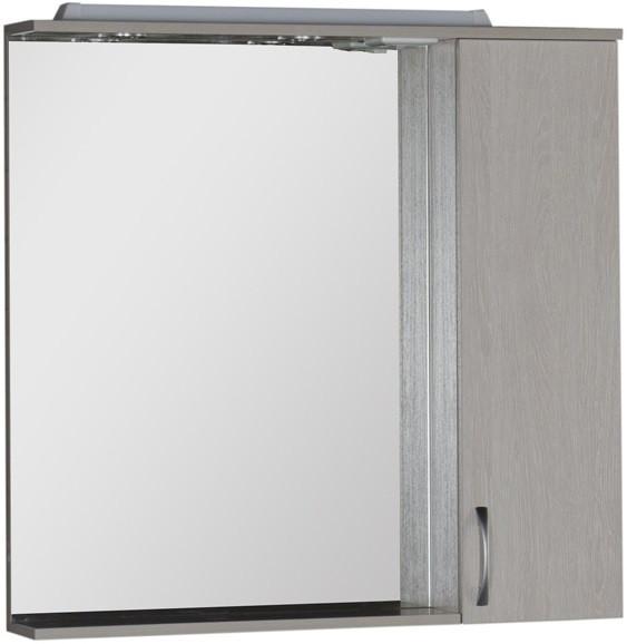 Зеркальный шкаф 90х87 см с подсветкой белый дуб Aquanet Донна 00169178 зеркальный шкаф 90х87 см с подсветкой венге aquanet донна 00169179