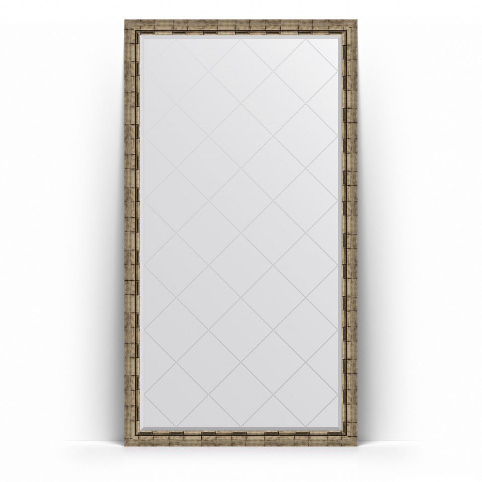 Зеркало напольное 108х198 см серебряный бамбук Evoform Exclusive-G Floor BY 6347