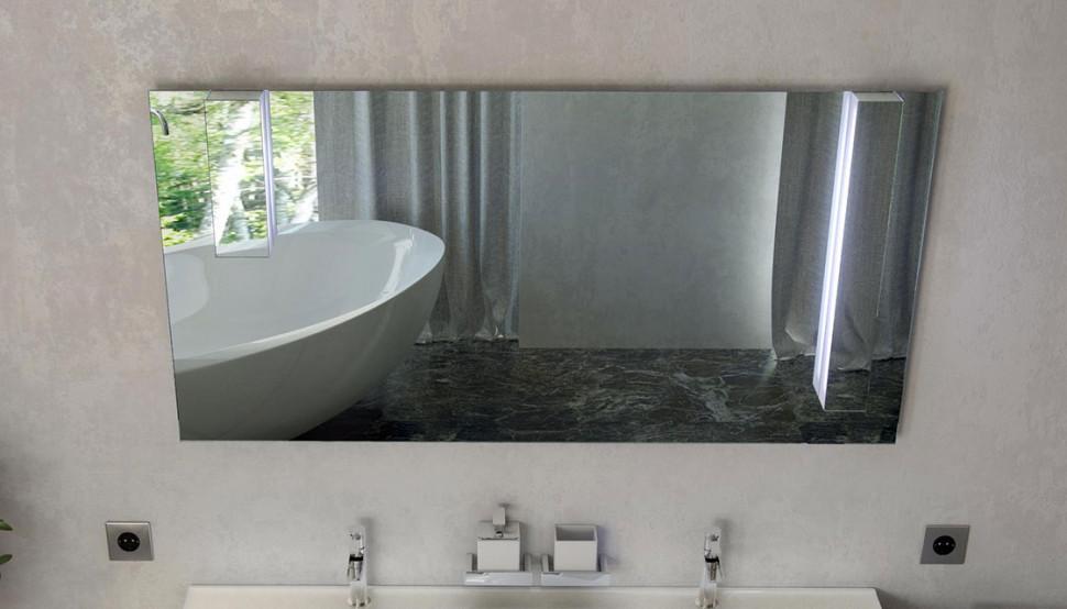 Зеркало 138х68 см белый Velvex Pulsus zkPUL.140-21 зеркало д ванной velvex otto с подсветкой 100 см