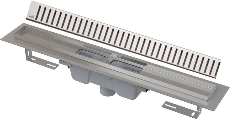 Душевой канал 844 мм глянцевый хром AlcaPlast APZ1001 Pure APZ1001-850 + PURE-850L фото