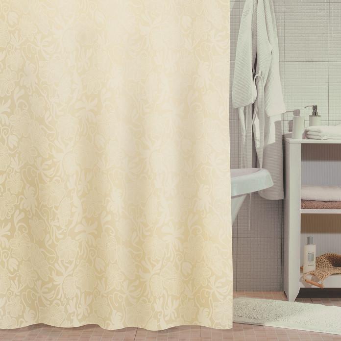 Фото - Штора для ванной комнаты Milardo Beige Miracle 840P180M11 шторка для ванной комнаты milardo brick wall 533v180m11