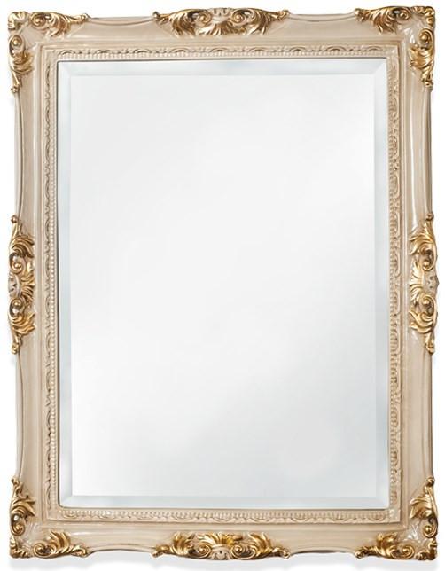 Зеркало 72х92 см слоновая кость/золото Tiffany World TW00262avorio/oro цена 2017