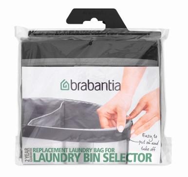 Мешок для бака для белья двойной 55л Brabantia 102387 мешок для прищепок 18х28 см синий 105784 brabantia