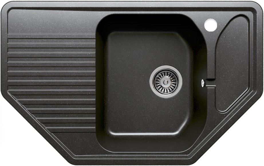 Кухонная мойка Polygran черный F-10 №16 фото