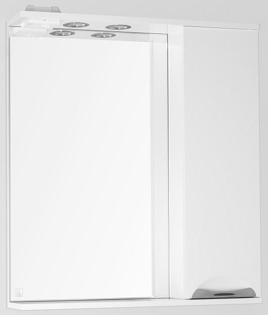 купить Зеркальный шкаф 70х83 см белый глянец Style Line Жасмин LC-00000042 по цене 5363 рублей