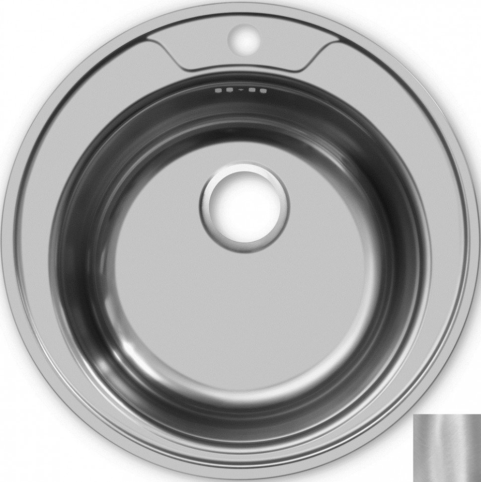 Кухонная мойка матовая сталь Ukinox Фаворит FAM510 -GT6K 0C кухонная мойка ukinox fap 770 480 gt6k 2l