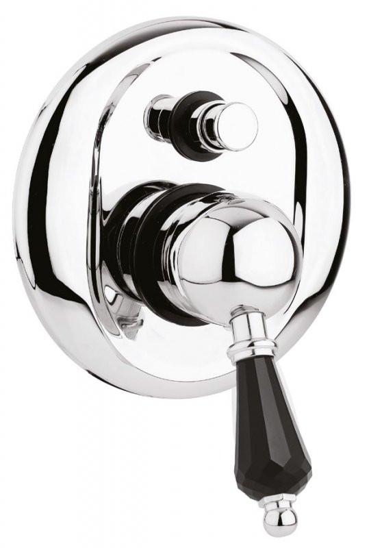 Встраиваемый смеситель для ванны хром, ручка Swarovski Nero Cezares Vintage VINTAGE-VDIM-01-Sw-N смеситель для ванны tsarsberg ручка 1202 ис 240051