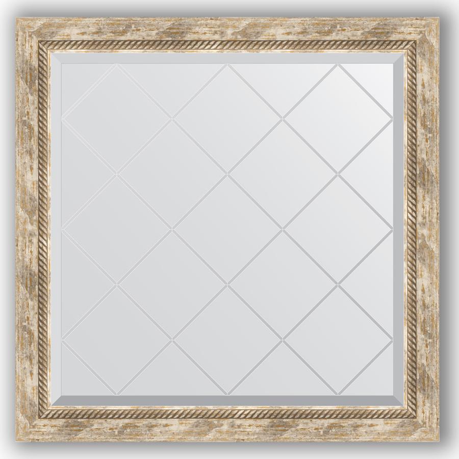 Зеркало 83х83 см прованс с плетением Evoform Exclusive-G BY 4306