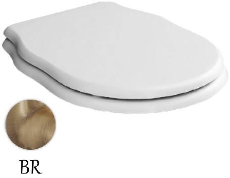 Сиденье для унитаза с микролифтом белый/бронза Artceram Hermitage HEA005 01 72 bi/br сиденье для унитаза с микролифтом орех бронза artceram hermitage hea004 72 noce br