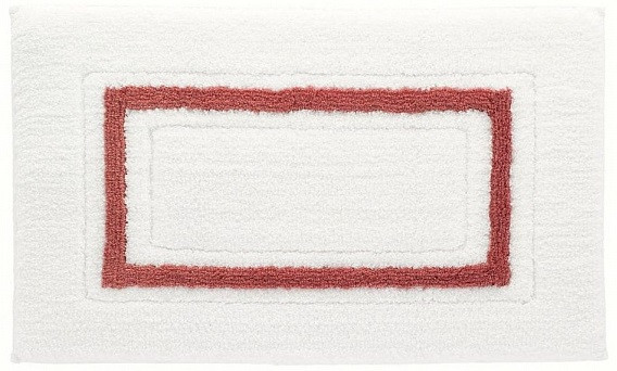 Коврик Kassatex Framed Stripe White/Paprika FSP-510-WPR