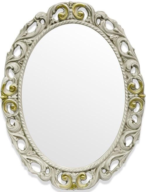 Зеркало 72х92 см слоновая кость/золото Tiffany World TW03642avorio/oro фото