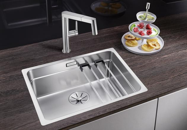 Кухонная мойка Blanco Etagon 500-IF InFino зеркальная полированная сталь 521840 кухонная мойка blanco claron 500 if infino зеркальная полированная сталь 521576