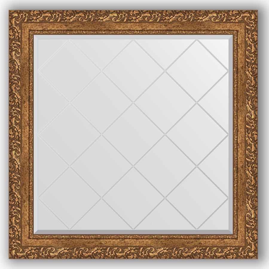Зеркало 85х85 см виньетка бронзовая Evoform Exclusive-G BY 4314