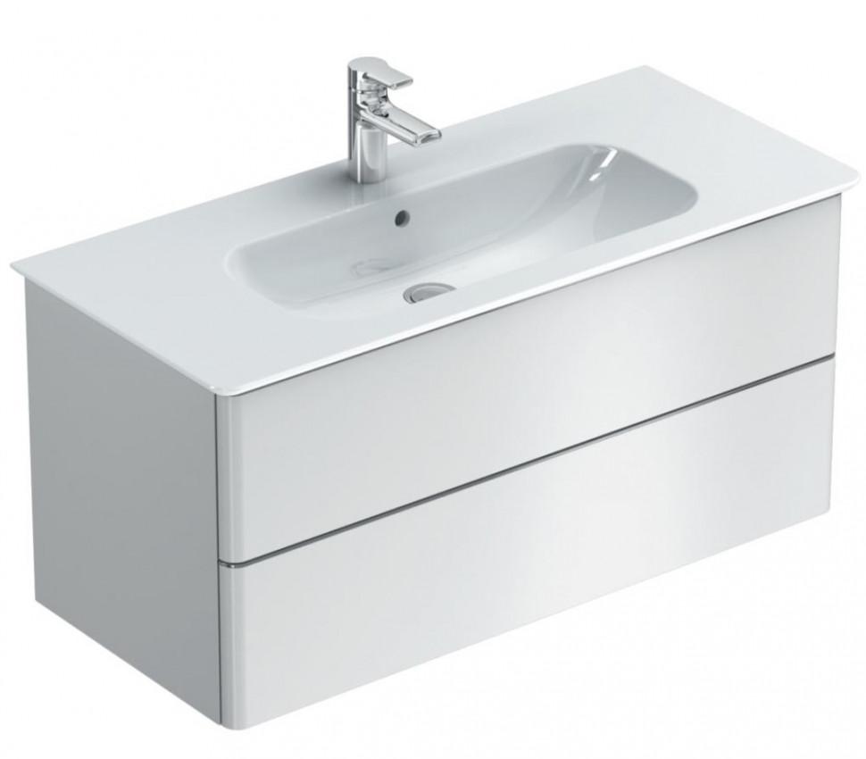 Тумба белый глянец 80 см 2 ящика Ideal Standard SoftMood T7801WG крючок ideal standard softmood a9145aa